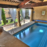 Heated inside pool