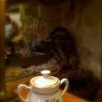 An open fire, an antique tea pot and a perfect lunch.