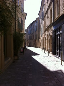 For a brief moment I had this street all to myself.